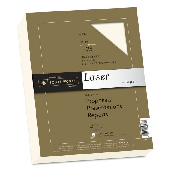 Southworth 25% Cotton Premium Laser Paper