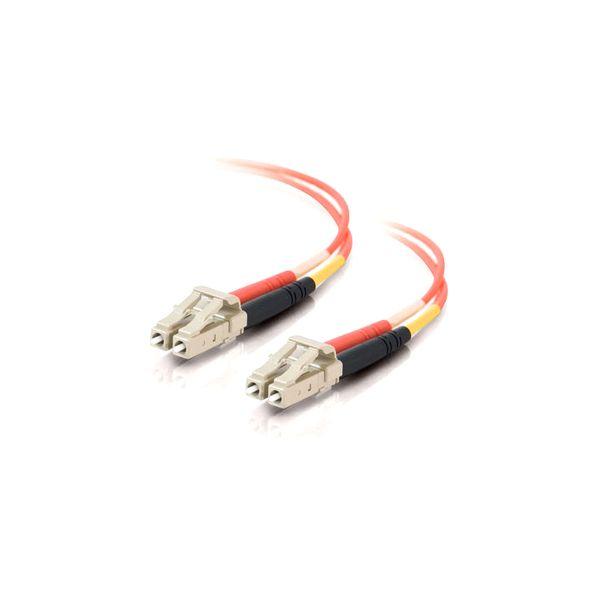 6m LC-LC 50/125 OM2 Duplex Multimode PVC Fiber Optic Cable - Orange