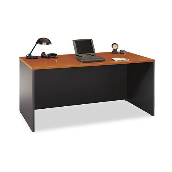 Series C Rectangular Desk, Graphite Gray/Auburn Maple, 66w x 29-3/8d x 29-7/8h by Bush Furniture