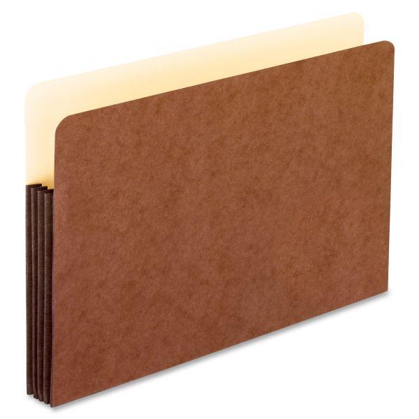 Pendaflex Watershed 3 in Expansion File Pockets, Straight Cut, Legal, Redrope