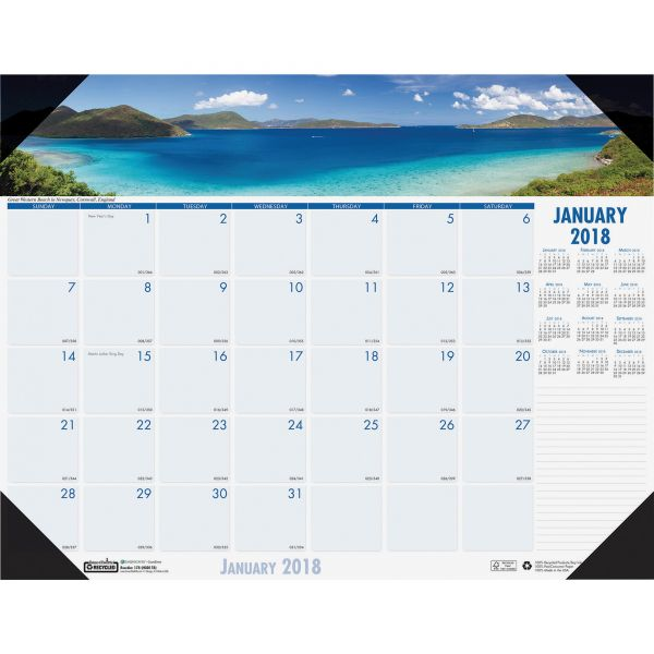 House of Doolittle Earthscapes Coastlines Monthly Desk Pad Calendar