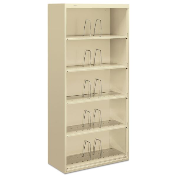 "HON Brigade 600 Series Shelf File | 5 Jumbo Height Shelves | Open Front | Legal Depth | 36""W"