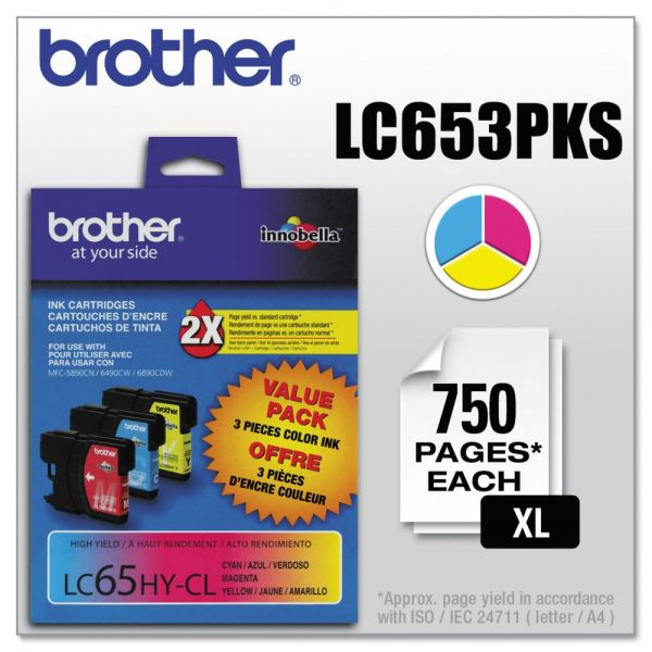 Brother LC653PKS Color Ink Cartridges