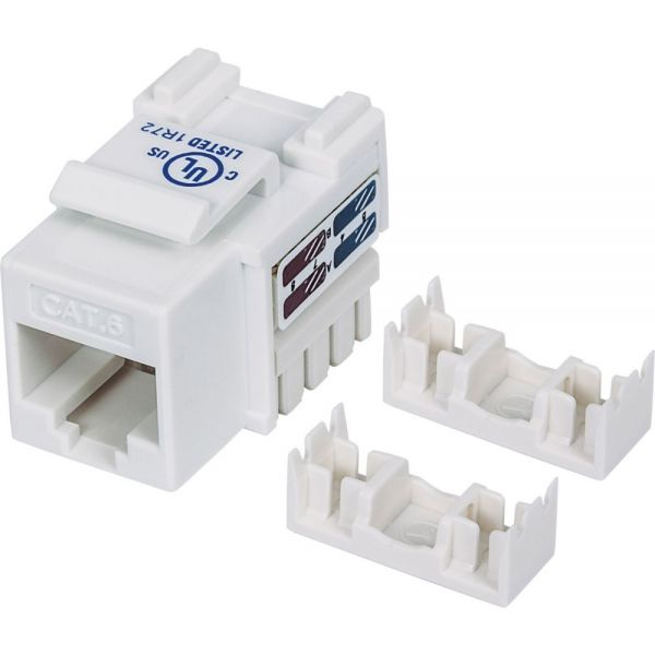Intellinet Cat6 UTP Punch-down Keystone Jack, White