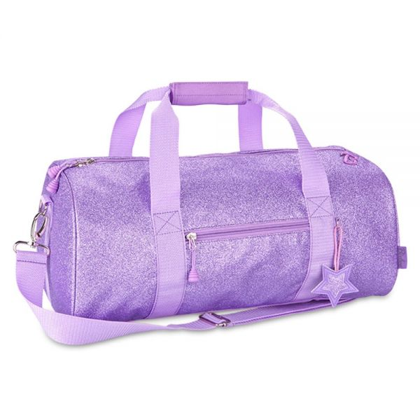 Bixbee Sparklicious Kids Glitter Large Duffle Bag - Purple