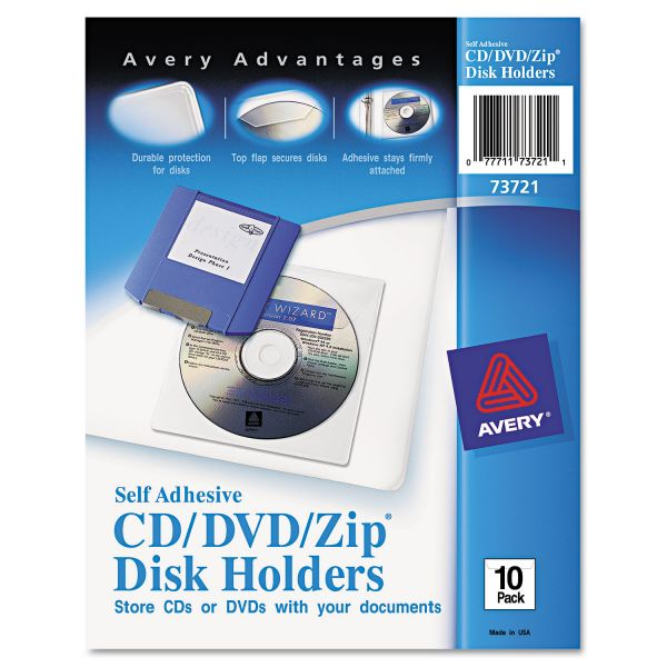 Avery Self-Adhesive Media Pockets