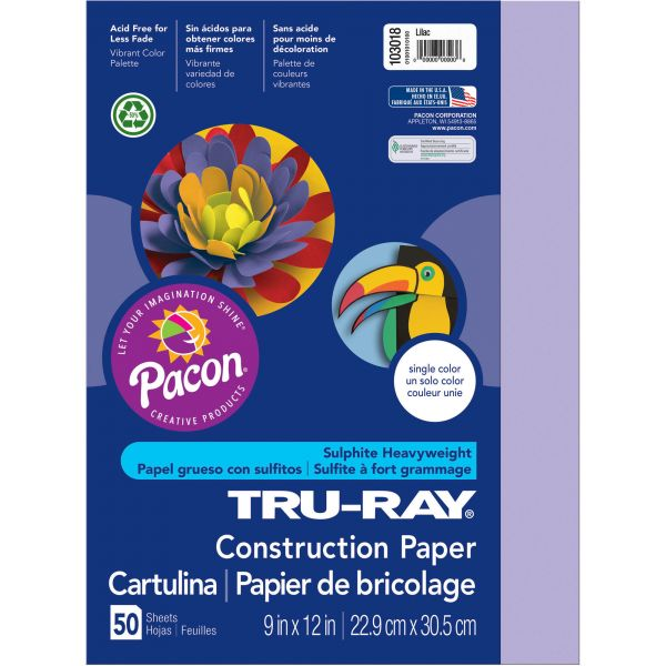 Tru-Ray Purple Construction Paper