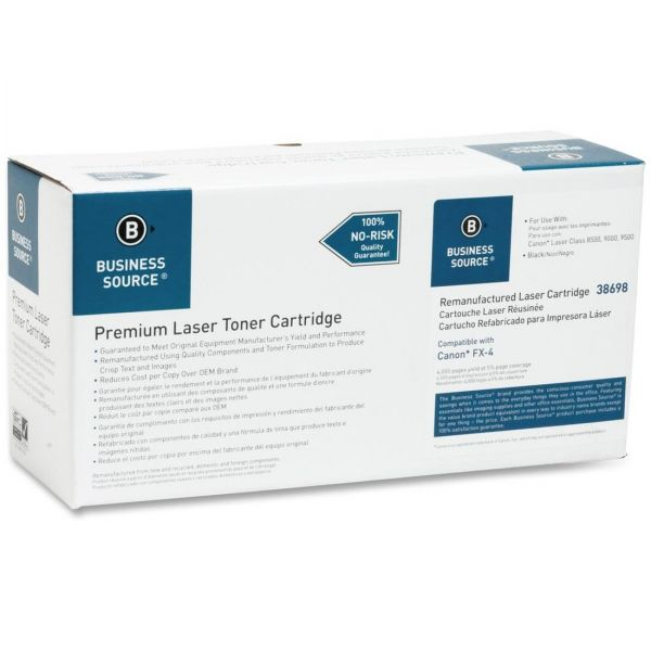 Business Source Remanufactured Canon FX-4 Black Toner Cartridge