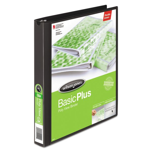 "Wilson Jones Flexible Basic Plus 1"" 3-Ring View Binder"