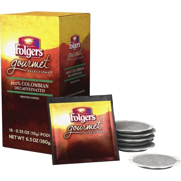 Folgers Gourmet Selections Coffee Pods - Decaf