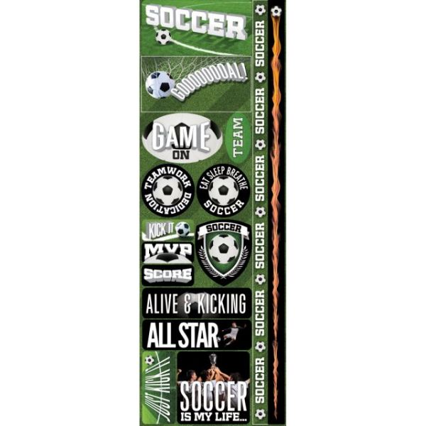 "Real Sport Die-Cut Cardstock Stickers 4.25""X13"""