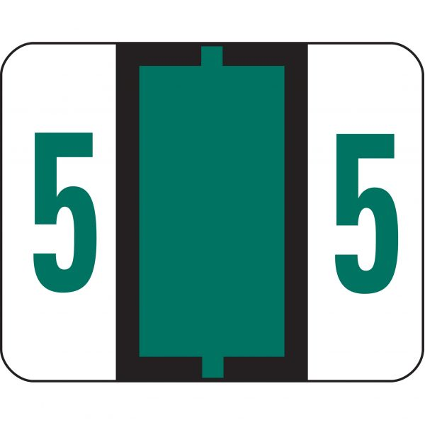 Smead BCCRN Bar-Style Color-Coded Numeric Label - 5