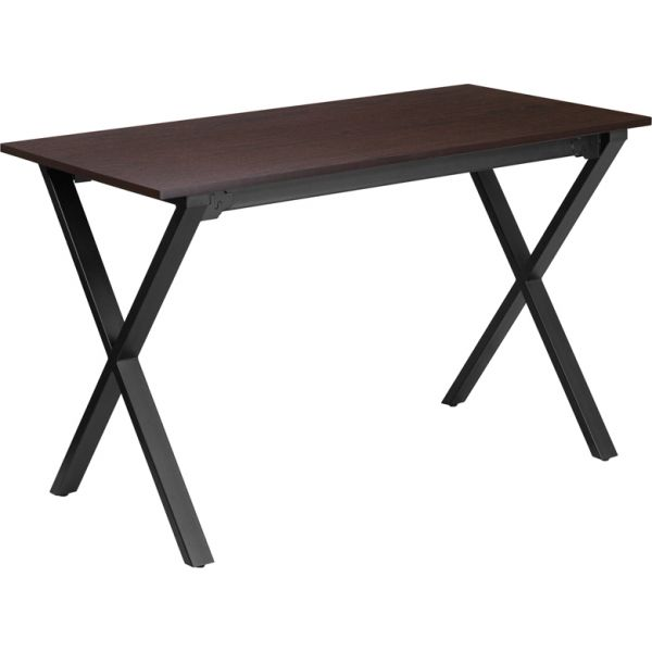 Flash Furniture 47.5''W x 23.75''D Walnut Computer Desk with Black Frame