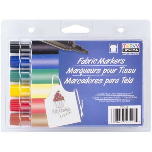 Fabric Markers Broad Tip 6/Pkg