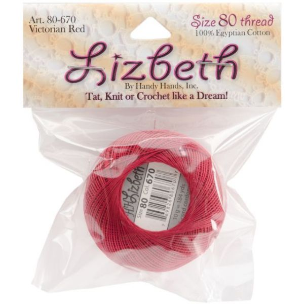 Lizbeth Cordonnet Cotton Thread - Victorian Red