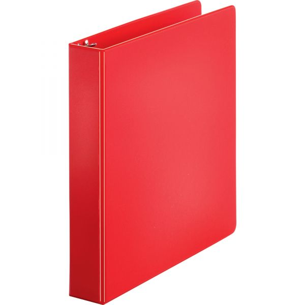 """Sparco 1 1/2"""" 3-Ring Binder, Letter Size, Round Ring, Red"""