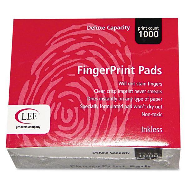 LEE Inkless Fingerprint Pad, 2 1/4 x 1 3/4, Black, Dozen