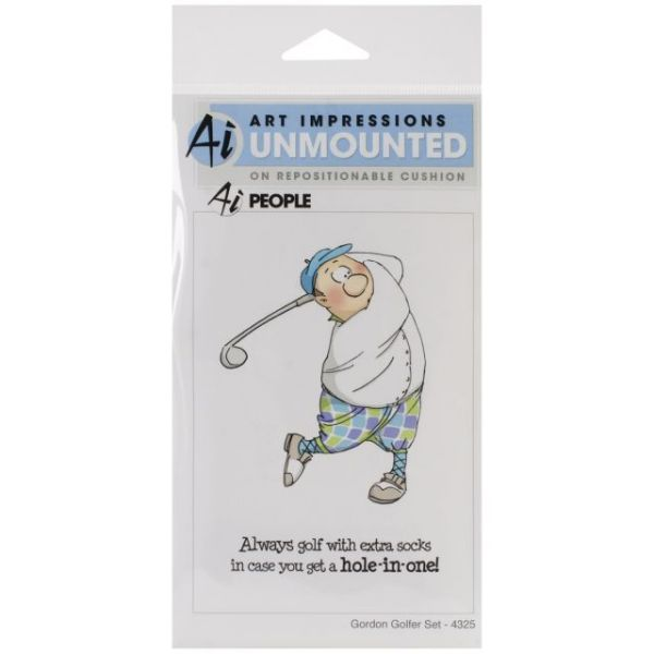 "Art Impressions People Cling Rubber Stamps 7""X4"""