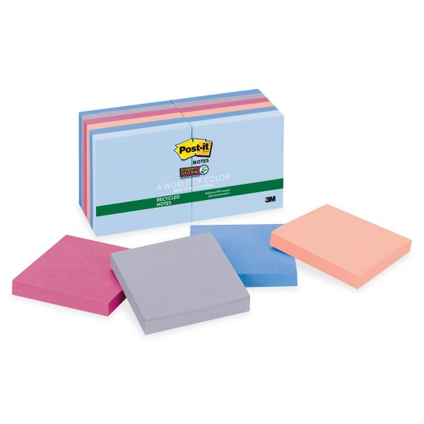 "Post-it 3"" x 3"" Recycled Super Sticky Notes"