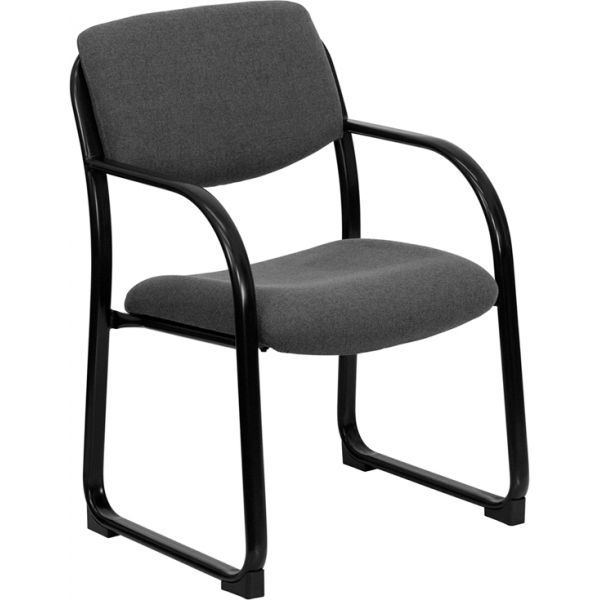 Flash Furniture Executive Side Chair with Sled Base [BT-508-GY-GG]