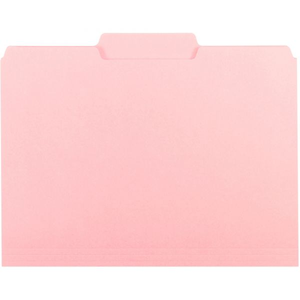 Smead Pink Colored File Folders