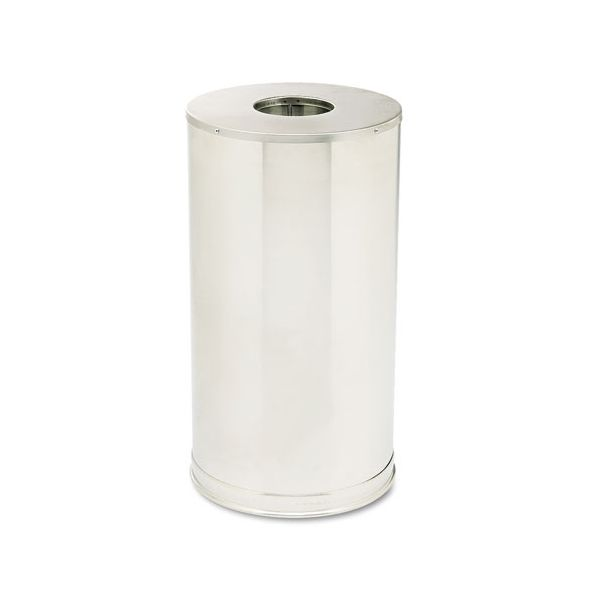 Rubbermaid Metallic Series Open-Top 15 Gallon Trash Can