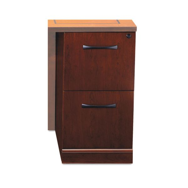 Tiffany Industries Sorrento File/File Return Pedestal, 15 1/4w x 20d x 28 1/4h, Cherry