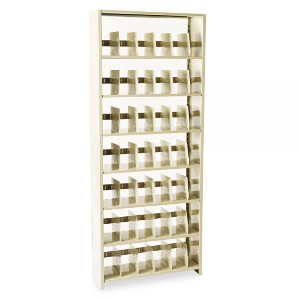Tennsco Snap-Together Steel Seven-Shelf Closed Starter Set, 36w x 12d x 88h, Sand