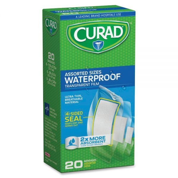 Curad Assorted Waterproof Transparent Bandages