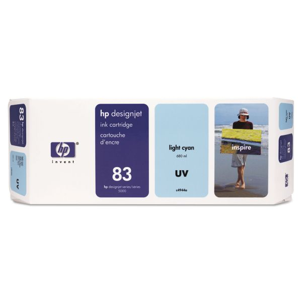 HP 83 UV Light Cyan Ink Cartridge (C4944A)