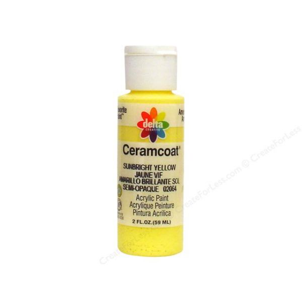 Ceramcoat Sunbright Yellow Acrylic Paint