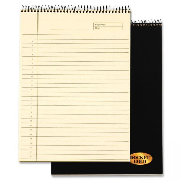 TOPS Docket Gold Project Letter-Size Legal Pad