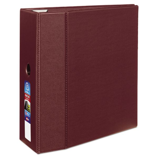 "Avery Heavy-Duty 3-Ring Binder with One Touch EZD Rings, 5"" Capacity, Maroon"