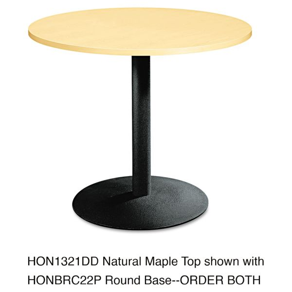 "HON Hospitality Table Base | Disc Style | Seated Height | 3"" Round Column 