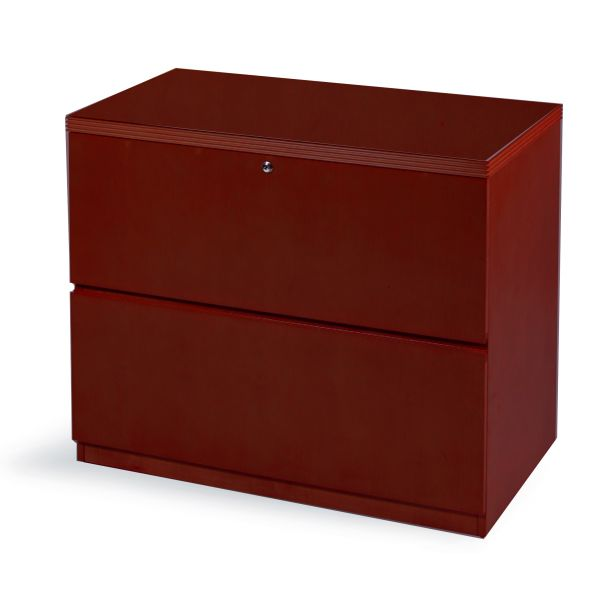 Mayline Luminary Series Wood Veneer Two-Drawer Lateral File
