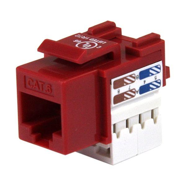 StarTech.com 110 Punch Type Category 6 Keystone Jack - Red