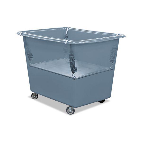 Royal Basket Trucks Poly Spring Lift, 15 x 25 1/2, 6 Bushel, Vinyl/Steel, Gray