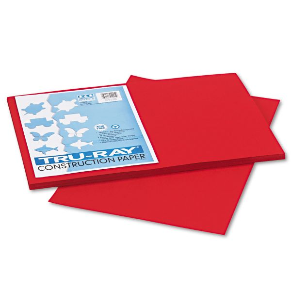 Tru-Ray Heavyweight Red Construction Paper