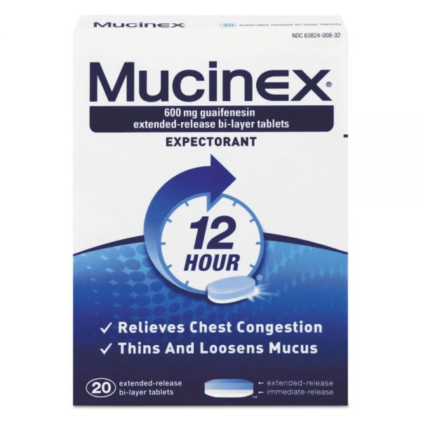 Mucinex Expectorant Regular Strength Tablets