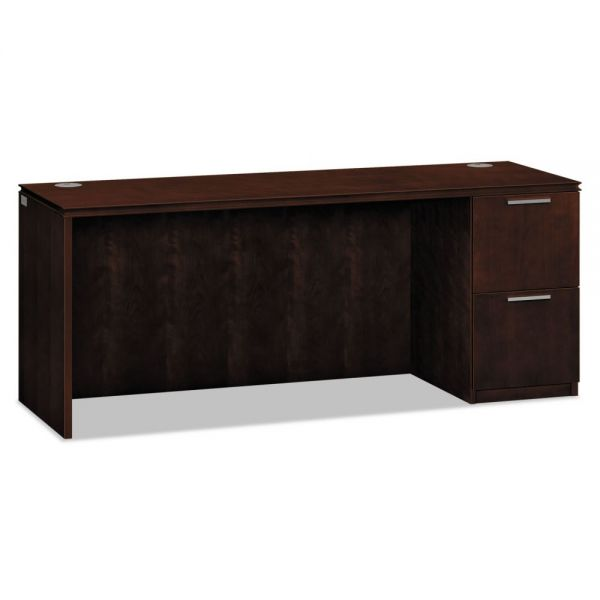 HON Arrive Single Pedestal Credenza, Right, 72w x 24d x 29-1/2h, Shaker Cherry