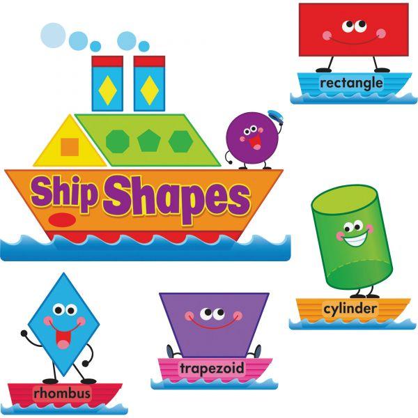 Trend Ship Shapes/Colors Bulletin Board Set