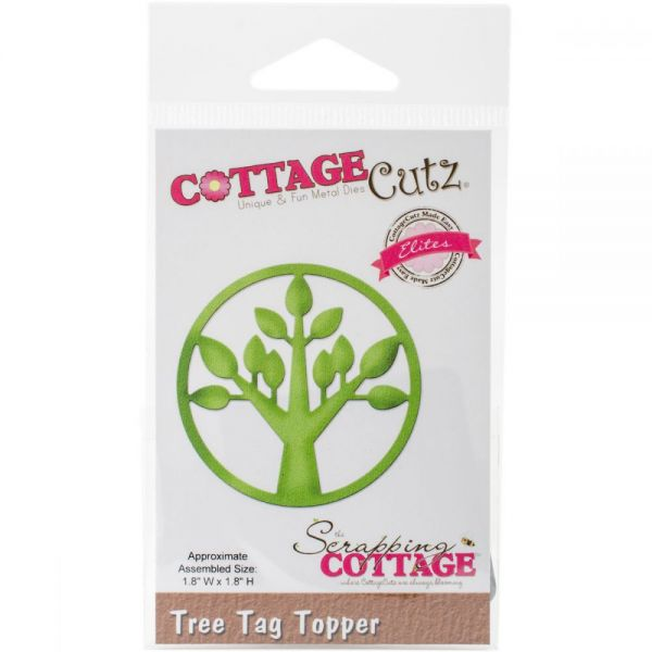 CottageCutz Elites Tree Tag Topper Die