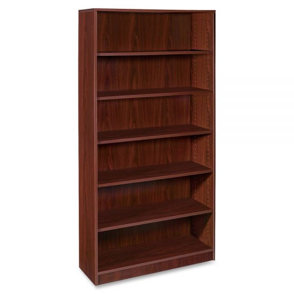 Lorell 69000 Series 6-Shelf Laminate Bookcase
