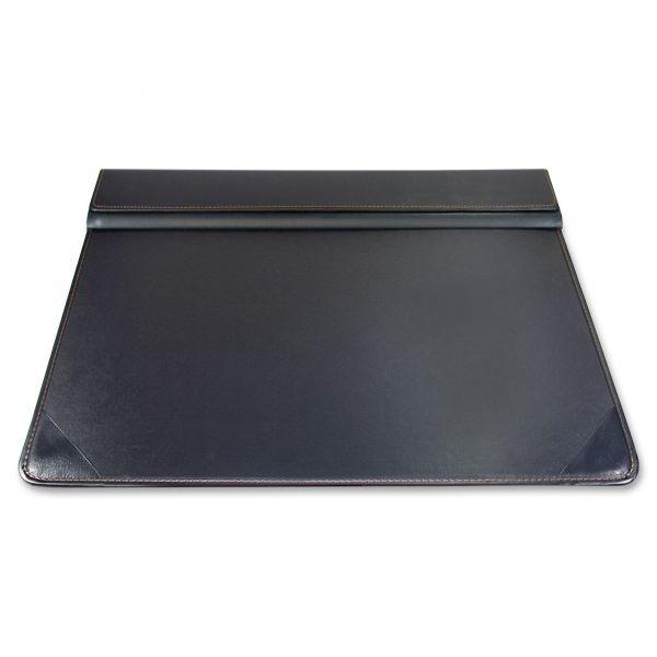 Artistic Executive Desk Pad Organizer with Storage, Matte Finish, 22 x 17, Black