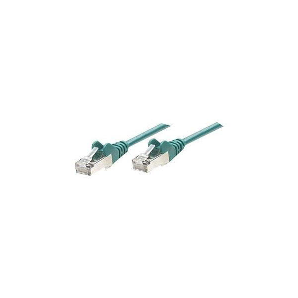 Intellinet Patch Cable, Cat6, UTP, 7', Green