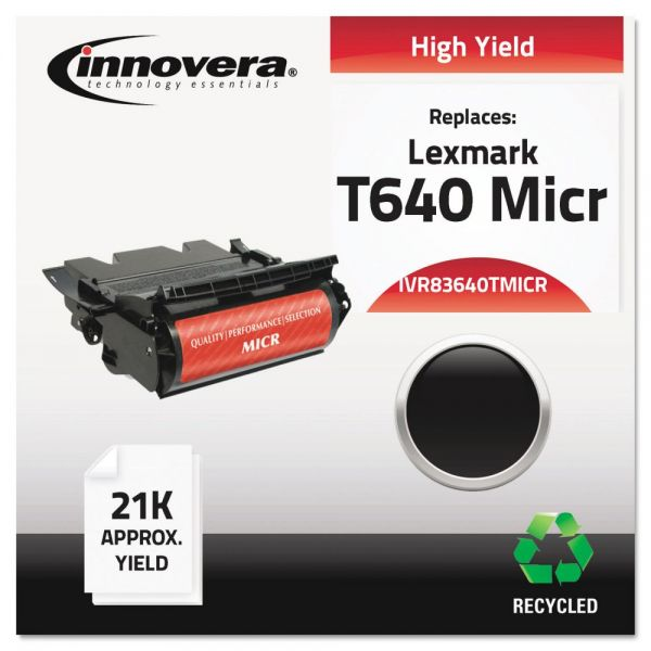 Innovera Remanufactured Lexmark T640 Micr High-Yield Toner Cartridge