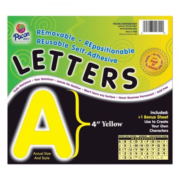 Pacon Self-Adhesive Removable Letters