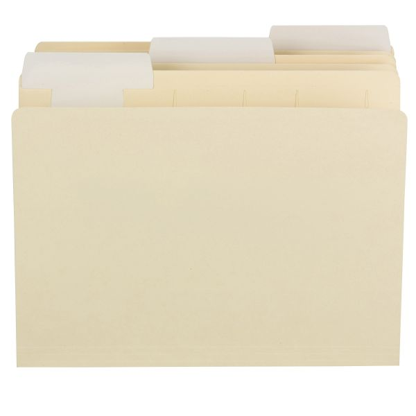 Smead FlexiFolder Heavyweight Manila File Folders with Movable Tabs