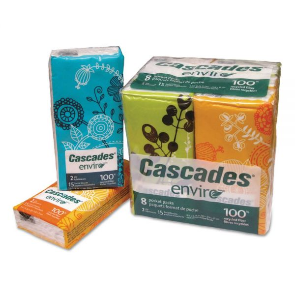 Cascades 2-Ply Facial Tissue Pocket Packs