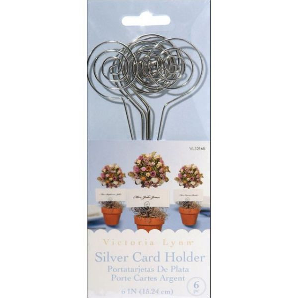 "Wire Card Holders 6"" 6/Pkg"